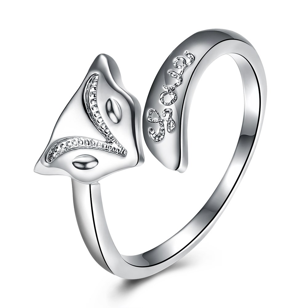 YUEYIN Fashion Rings Silver Plated Fox Opening Adjustable