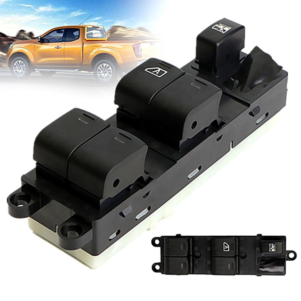 Black Electric Power Window Master Control Switch for Nissan NAVARA 2007