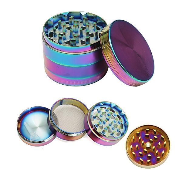 52MM Zinc Alloy 4 Layer Herb Tobacco Grinder Crusher Ra