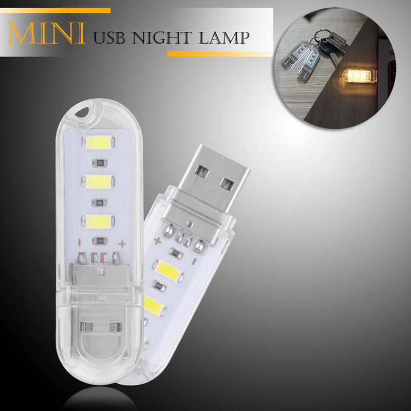 Portable Mini SMD5730 0.8W USB LED Rigid Camping Night Light for Power Bank Notebook DC5V