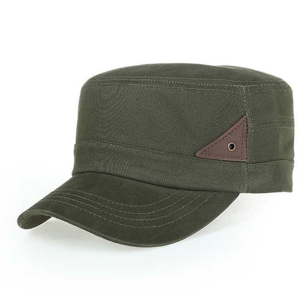 Men's Cotton Twill Army Millitary Corps Flat Top