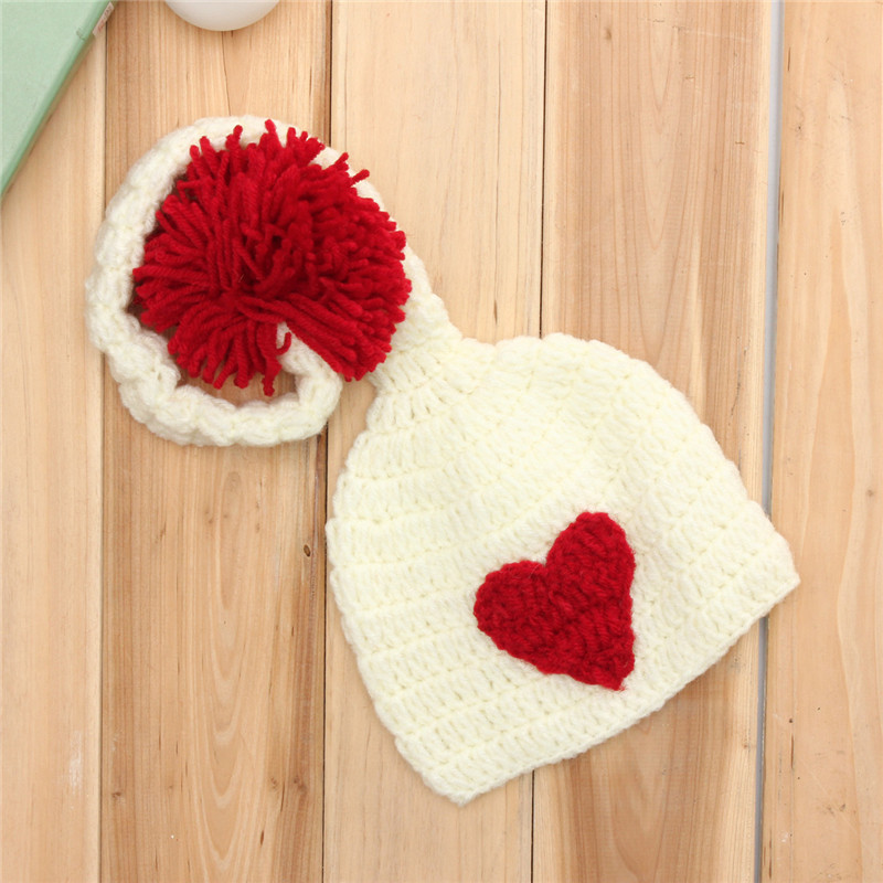 Baby Crochet Knit Costume Photo Photography Long Tail Hat 100 Days Girls Boys