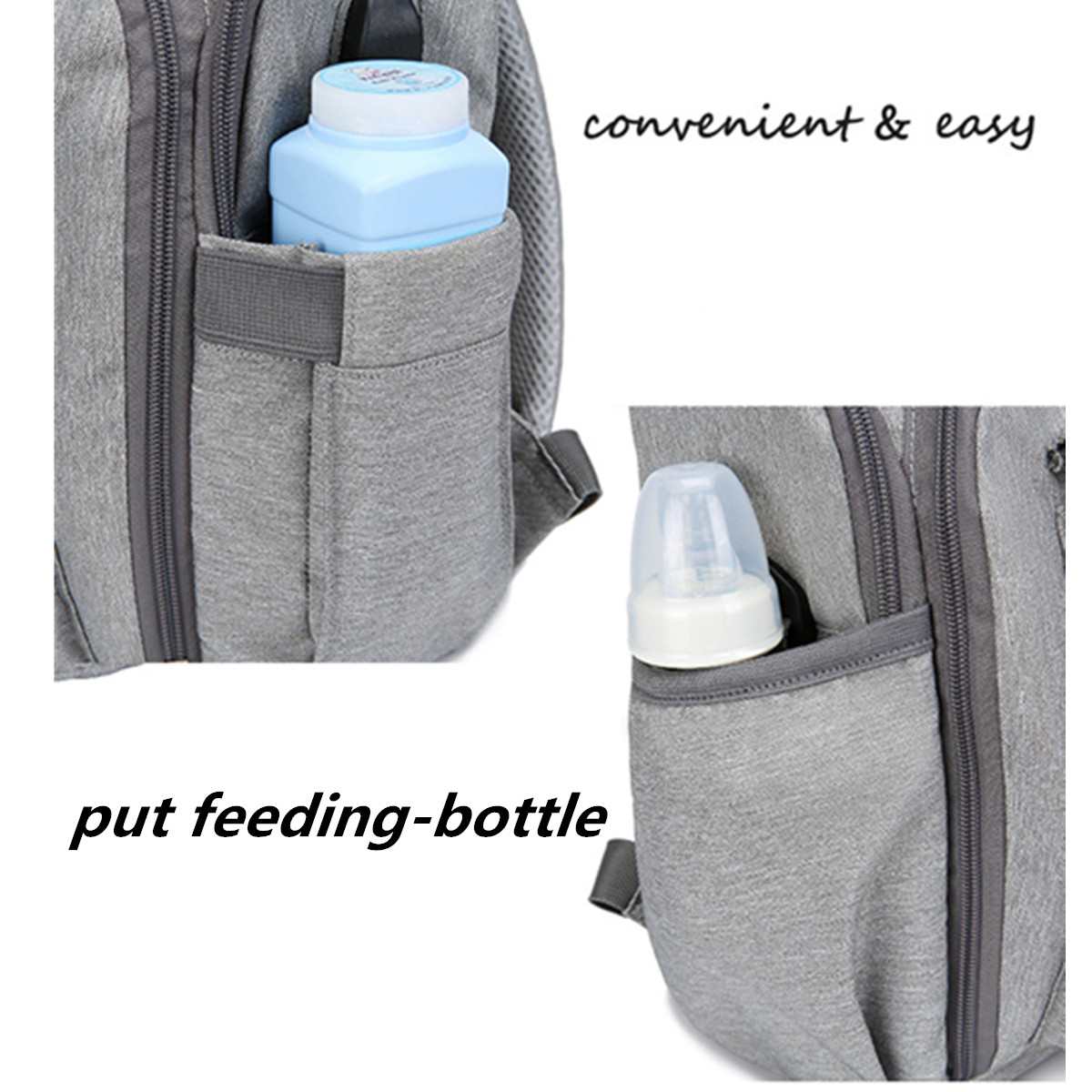 Outdoor Travel Women Mummy Nappy Bag Baby Diaper USB Backpack