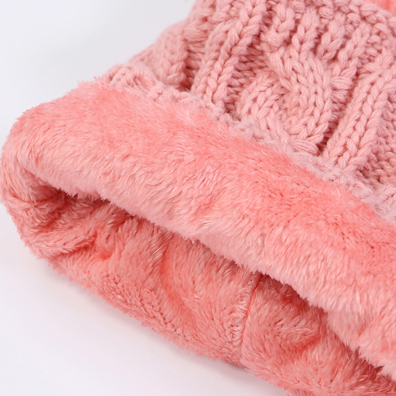 Women Winter Warm Headpiece Multifunction Knitted Hat