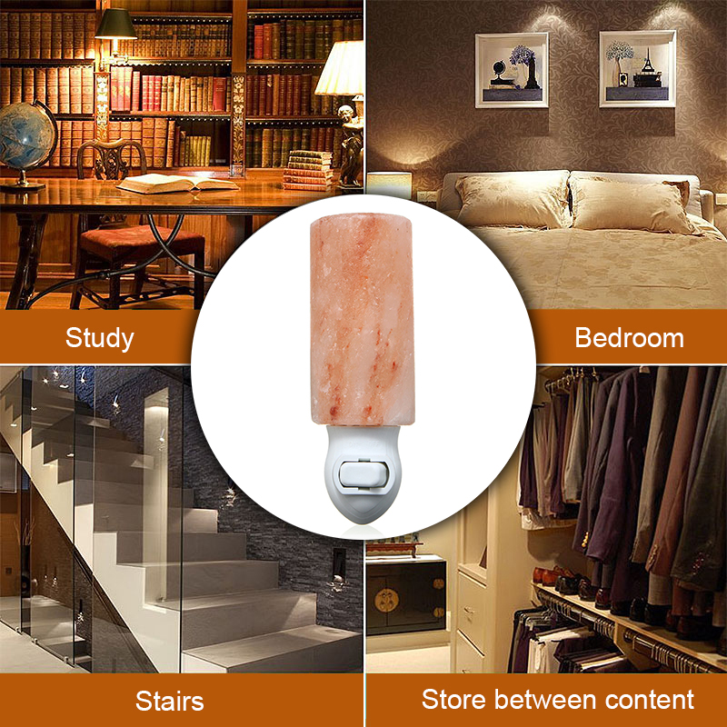 15W Natural Crystal Long Himalayan Glow Hand Carved Crystal Salt Night Lamp Wall Light