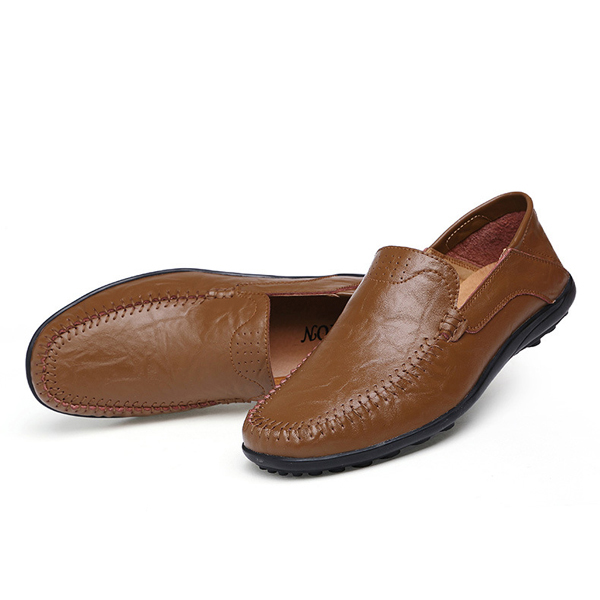 Big Size Slip On Leather Formal Shoes Soft Sole Business Shoes