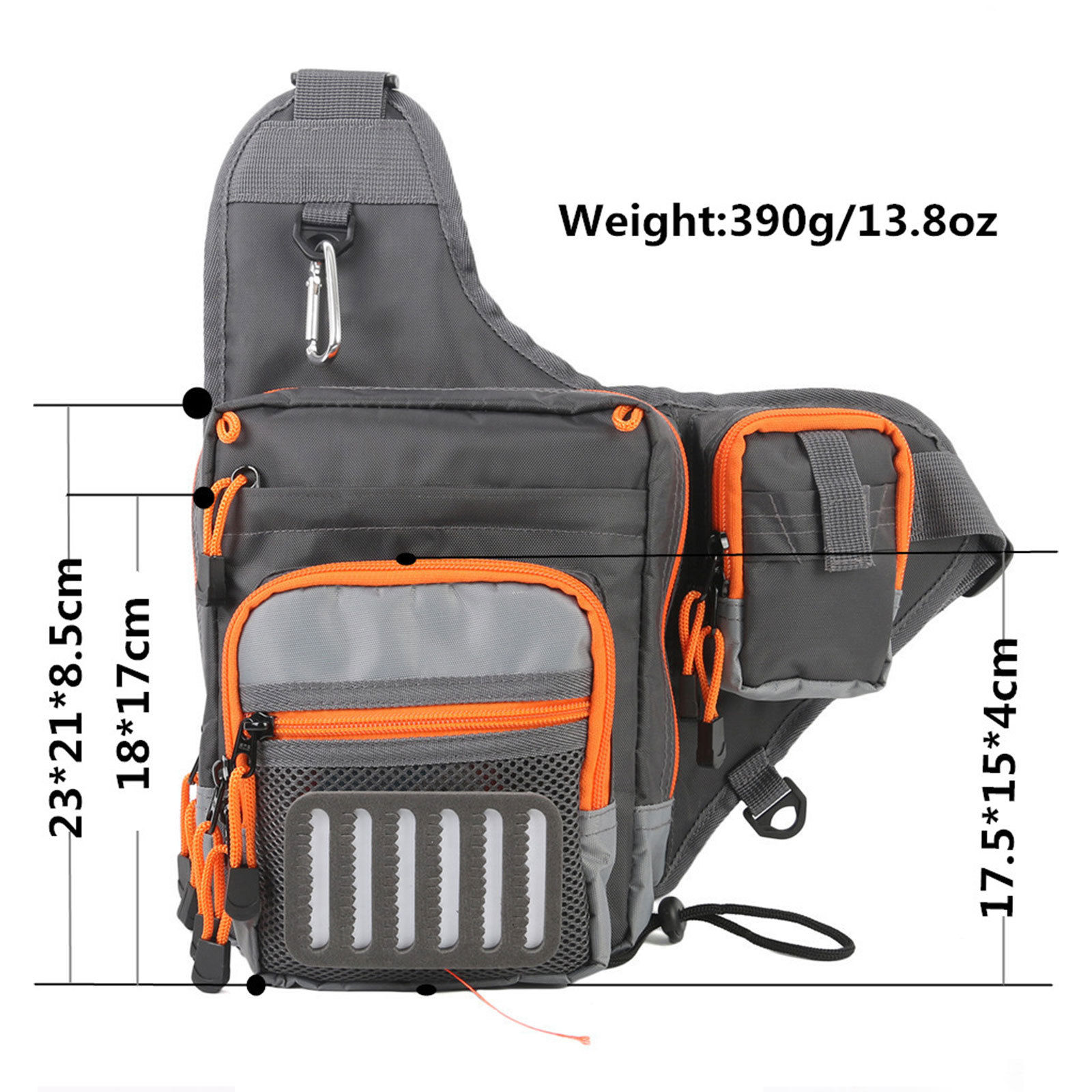 Maxcatch Polyester Fishing Sling Bag Multifunctional Fly Fishing Bag Waist Pack Tool Bag