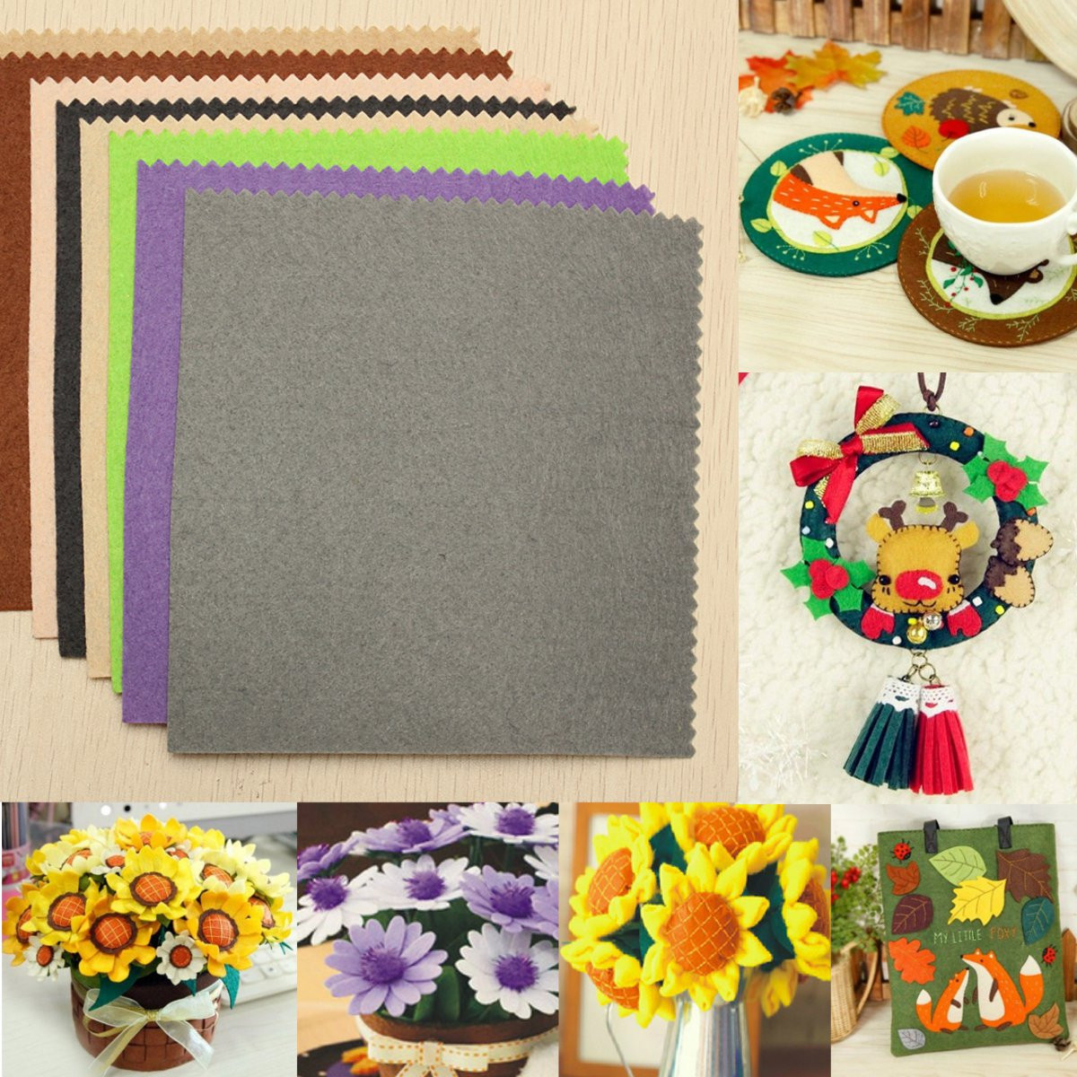 41pcs Fabric Crafts DIY Handmade Gifts For Friends Kids