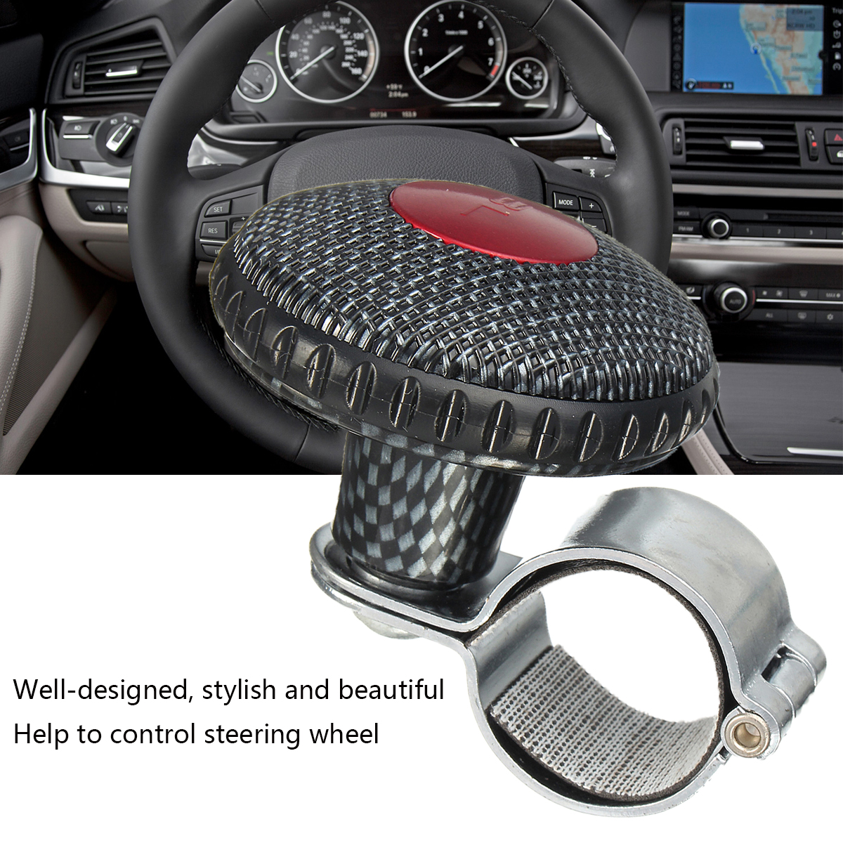 Universal Car Boat Steering Wheel Handle Assist Knob Ball Driving Aid Spinner