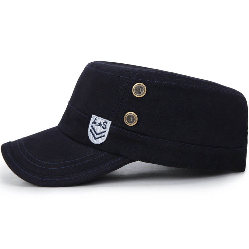Men Summer Washed Breathable Cotton Flat Cap
