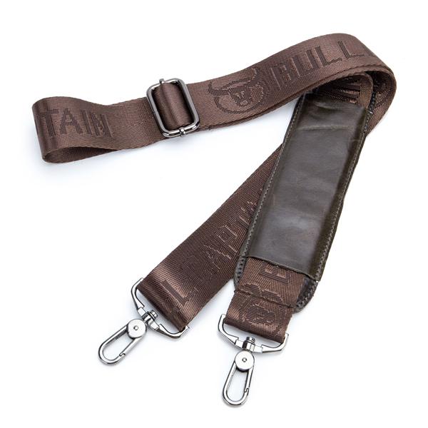 Bullcaptain® Men Retro Leather Messenger Bag Crossbody Shoulder Bag Laptop Briefcase with Shoulder Strap