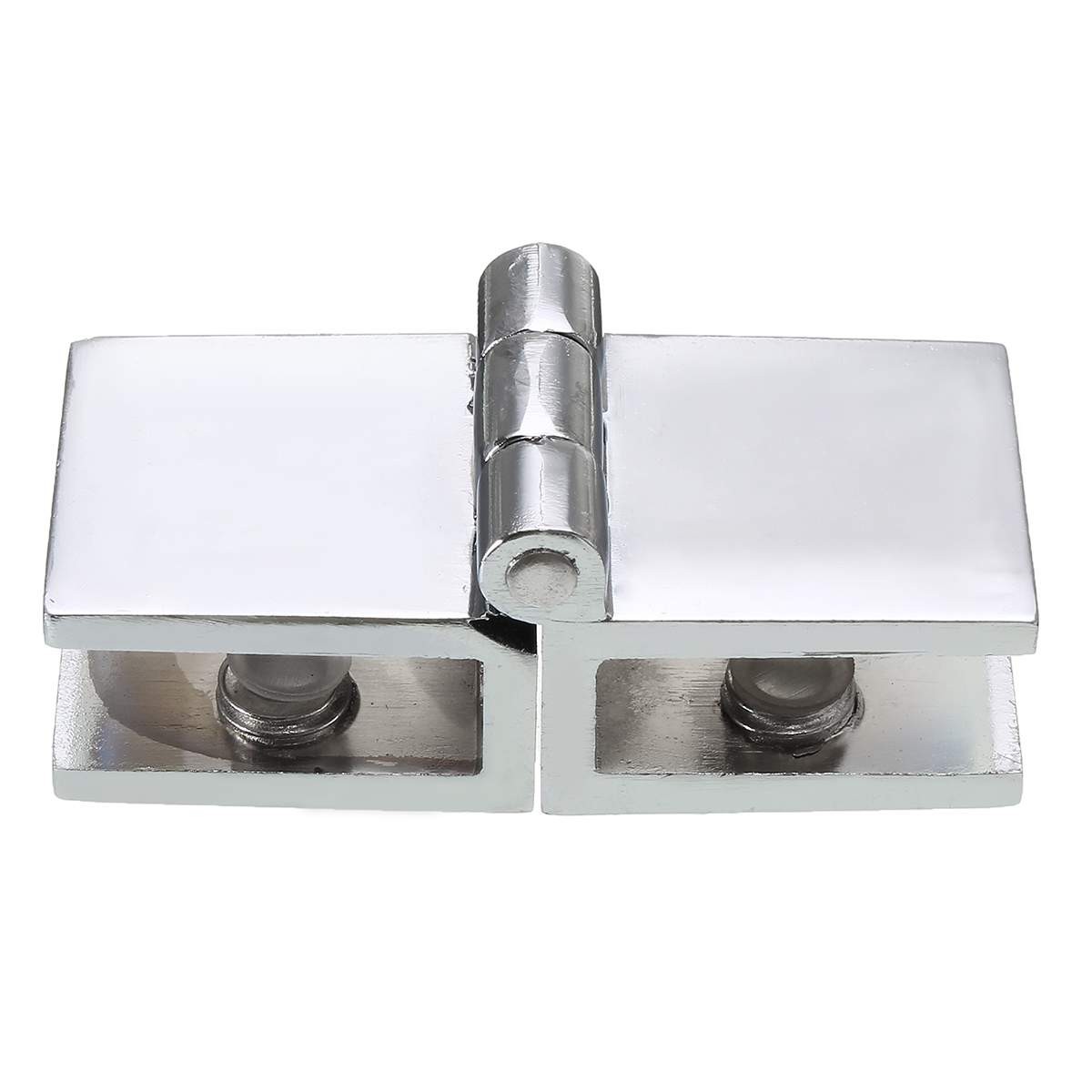 180 Degree Clamp Hinge Double Action for 5-8mm Glass Door Cupboard Cabinet