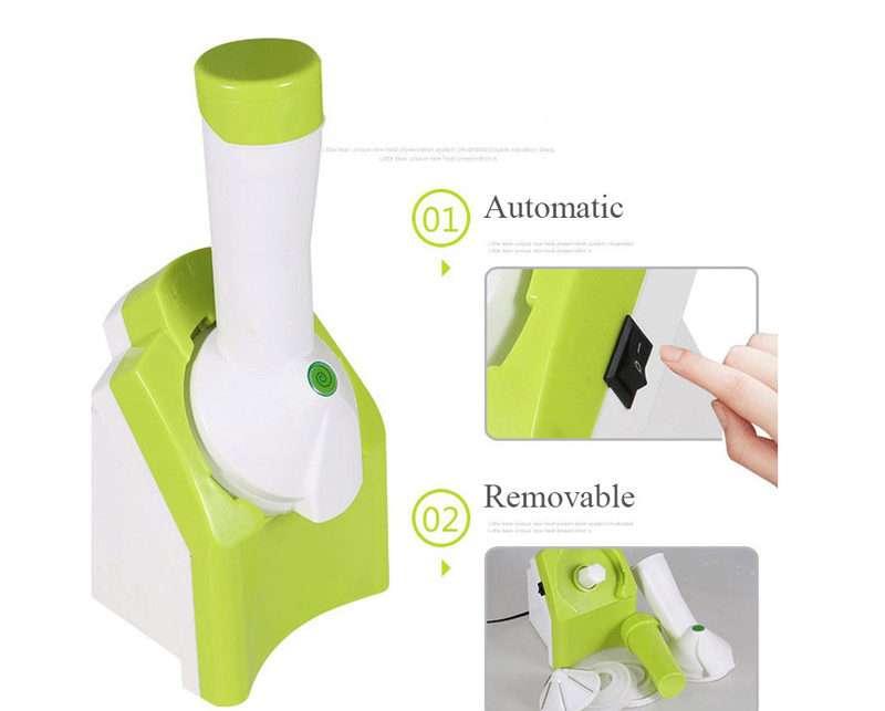 Mini DIY Electric Automatic Ice Cream Machine Ice Maker Home Frozen Healthy Dessert Maker