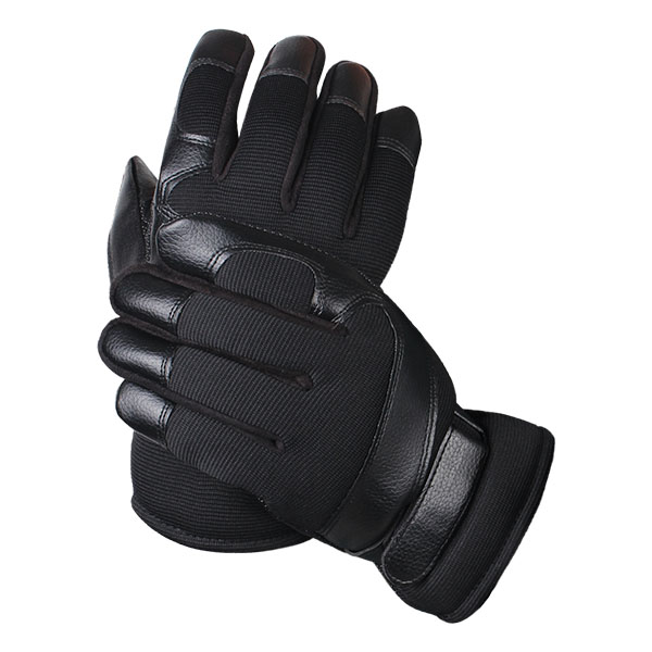 Men Male Nylon Leather Thread Driving Gloves Thick Skidproof Outdoor Cycling Mittens