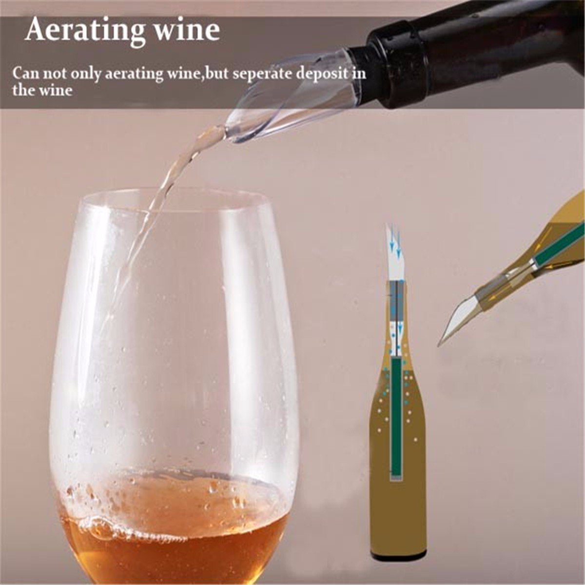Stainless Steel Red Wine Cooling Stick Chiller Cooler Pouring Aerator Whisky Stone Bar Tools
