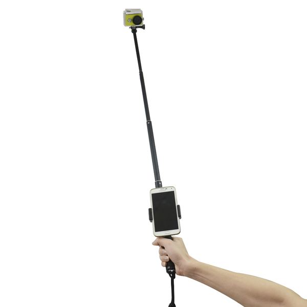 Extendable Handheld Monopod Stick Tripod with Mobile Phone Clip for Xiaomi Yi Sjcam Gopro Camera