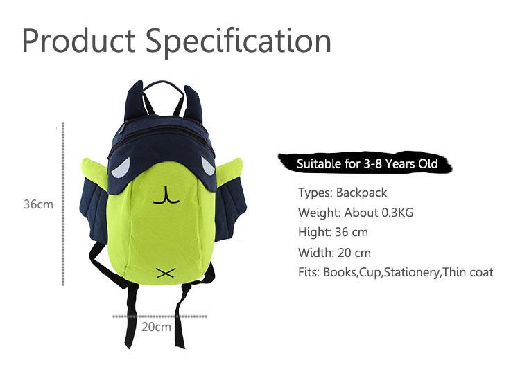 2016 Children 3D Cartoon Canvas Backpack Kids Waterproof Zipper Bag Fashion Light Schoolbag