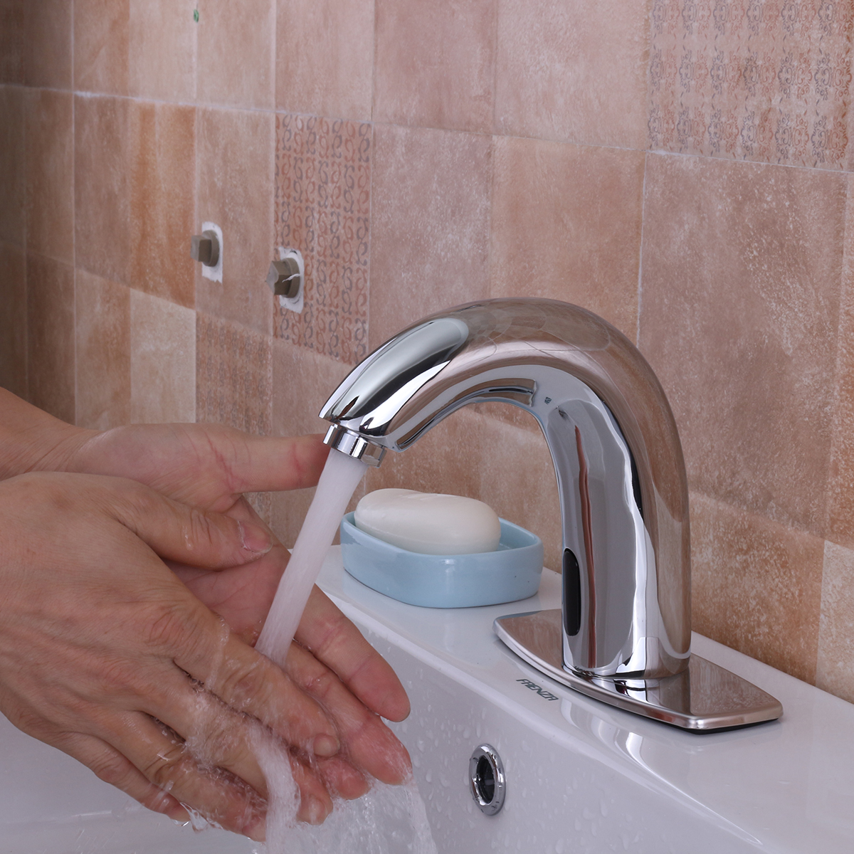 Automatic Sensor Touchless Faucet Hands Free Bathroom Sink Cold Water Tap Commercial Hands Free Tap