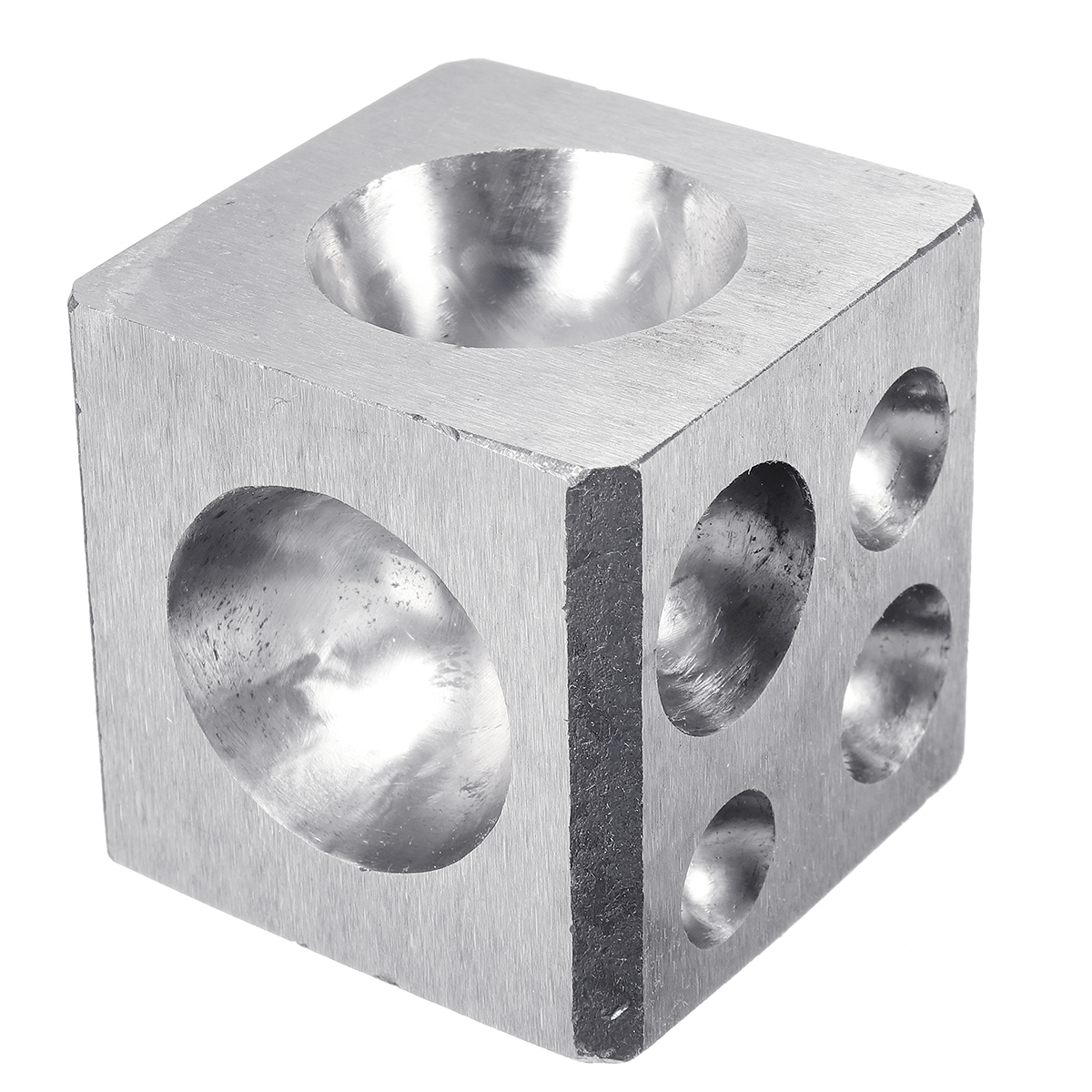 50mm Solid Steel Doming Block Dapping Punch Jewelry Craft Making Tools