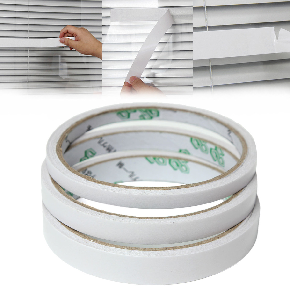 9m Roll Transparent Clear Double Sided Self Adhesive Tape For Craft Packaging