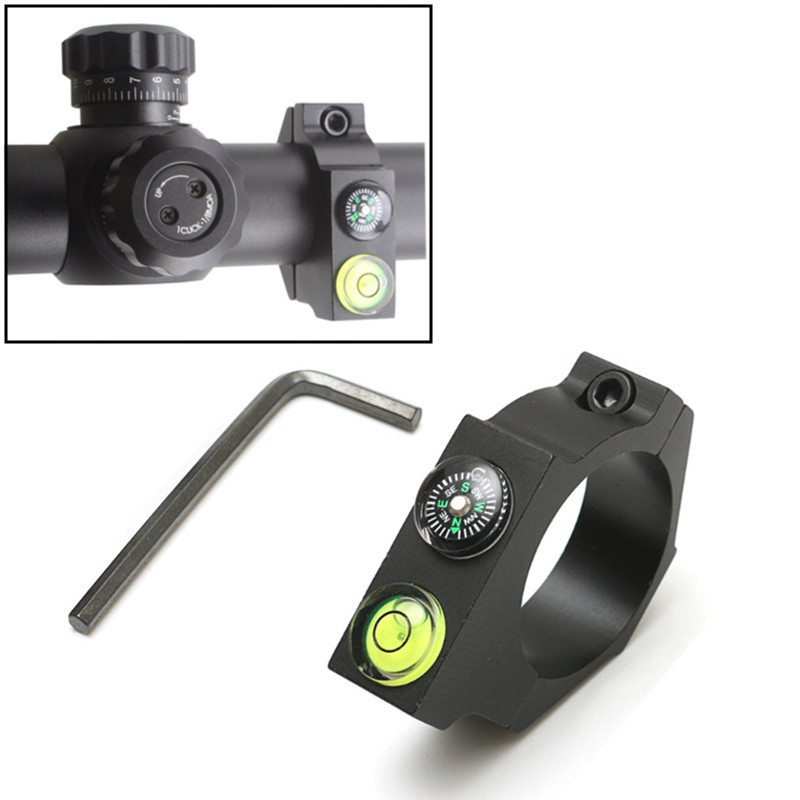 Outdoors Optical Rifle Compass Horizontal Circle Aim Bracket Riflescope Anti-cant used for Shooting and Hunting