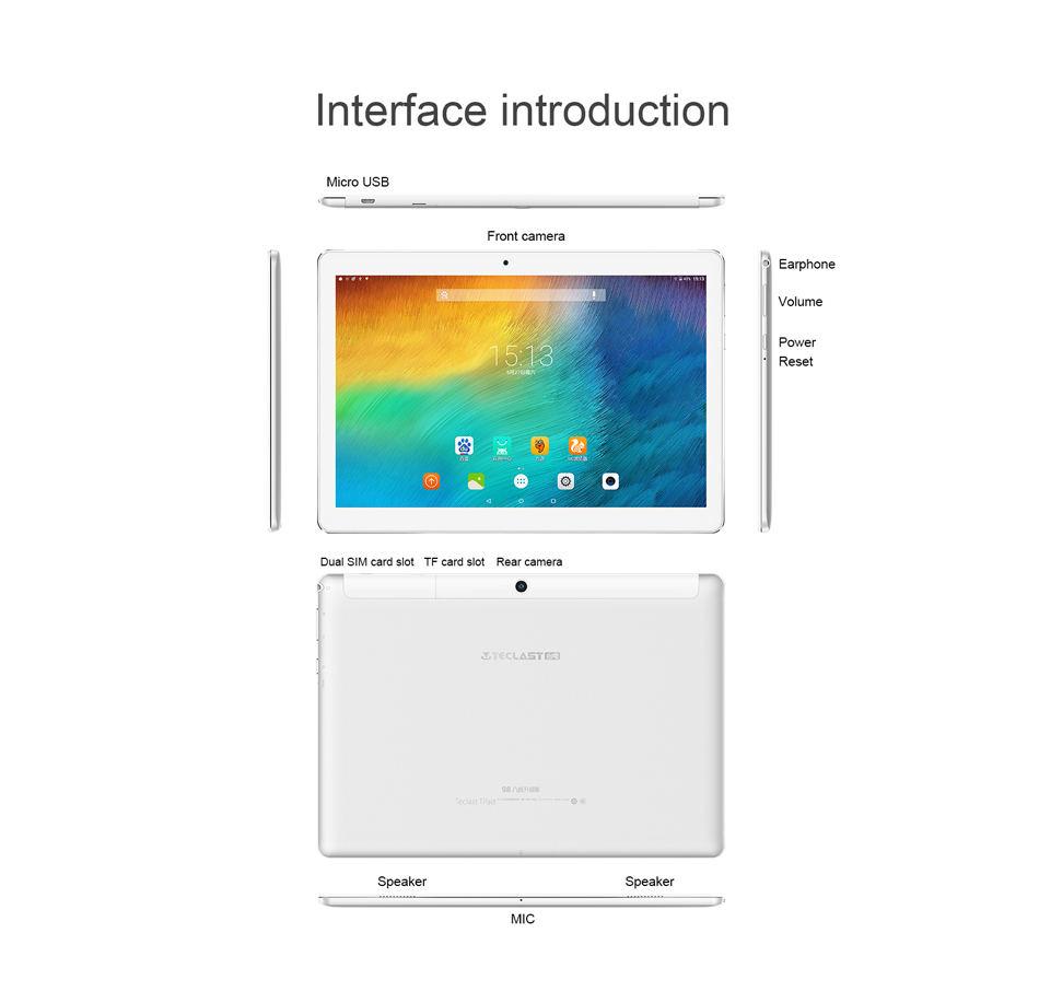 Original Box New Teclast 98 Octa Core MT6753 3GB RAM 32GB 10.1 Inch Dual 4G Android 6.0 Tablet PC
