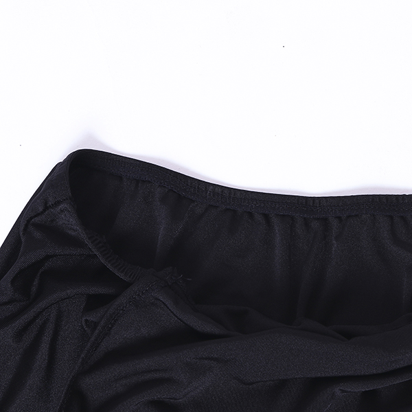 Open Chest Sheer Long Hollow Elegant Women Lingerie Backless Dew Leg Nightwear