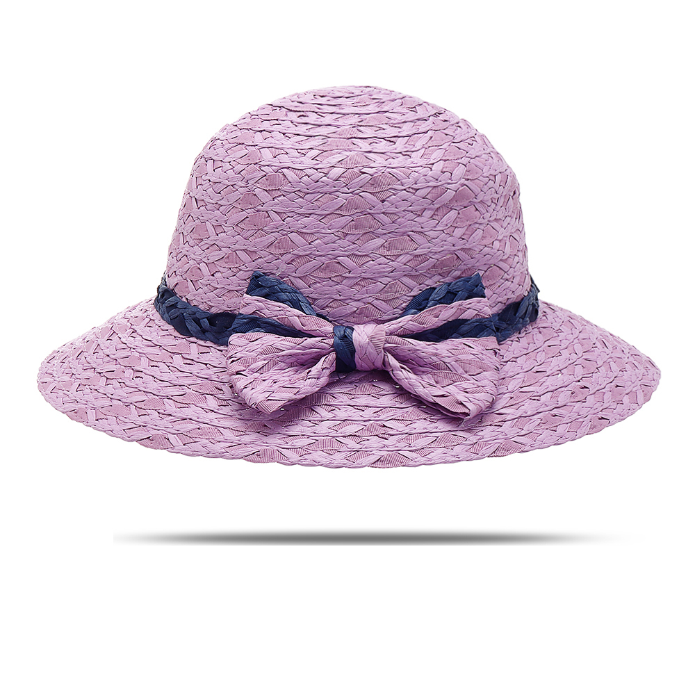 Women Summer Breathable Sunshade Bow Hat