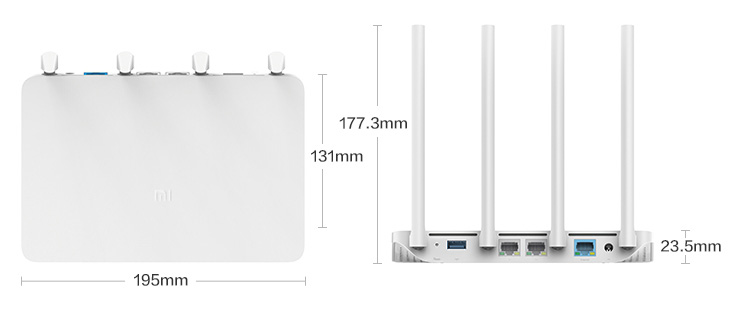 Xiaomi Mi Router 3G 1167Mbps 2.4G 5G Dual Band Wifi Wireless Gigabit Router with 4 Antennas