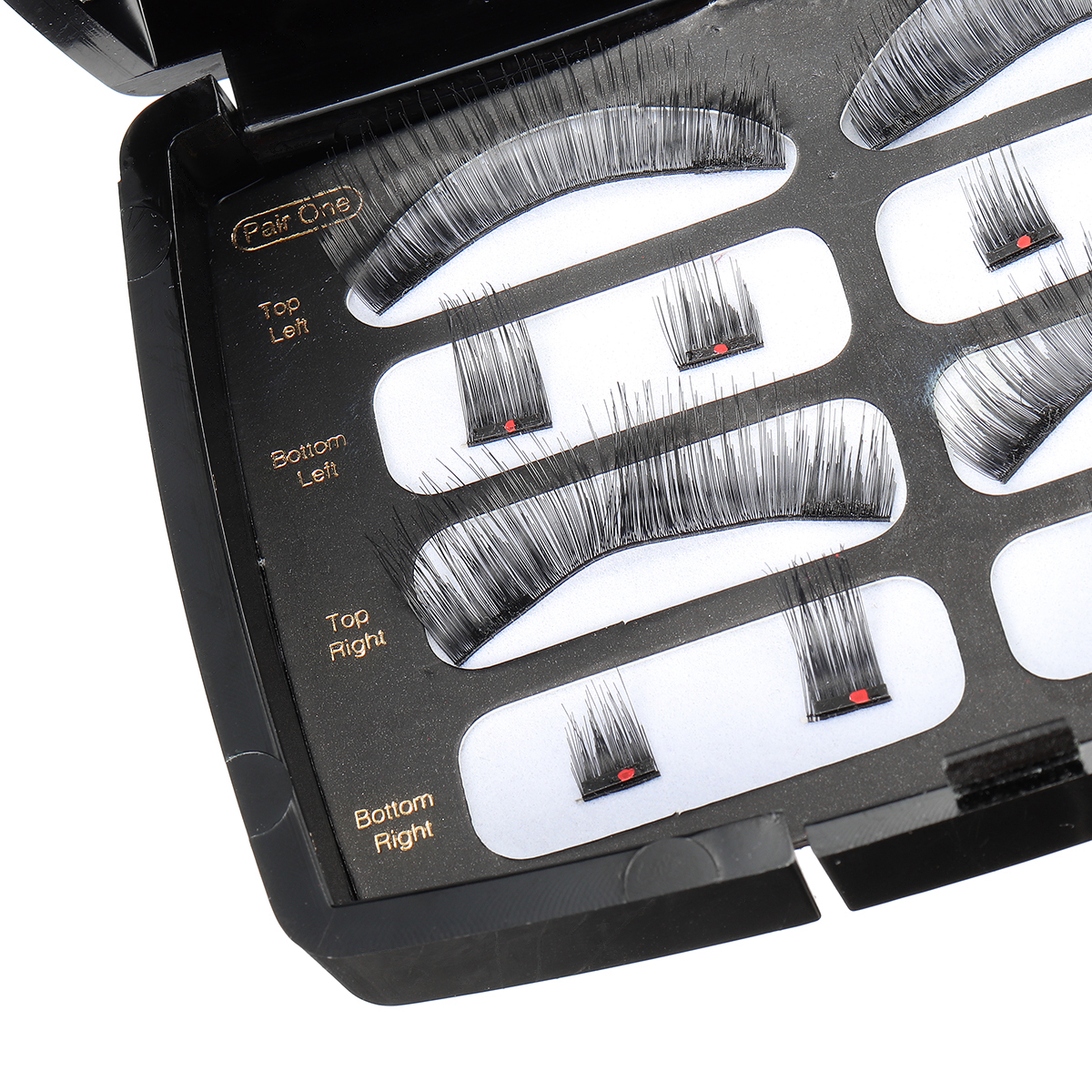 Black Soft Magnetic Eyelashes Natural Length Dual Magnets