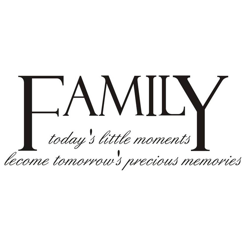 Innovative New Family Carved Wall Sticker English Words Living Room Bedroom Wall Sticker Home Decoration DIY Removable Decor Waterproof Wall Stickers