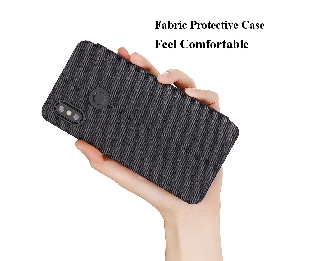 Bakeey Flip Shockproof Fabric Soft Silicone Edge Full Body Protective Case For Xiaomi Mi8 Mi 8