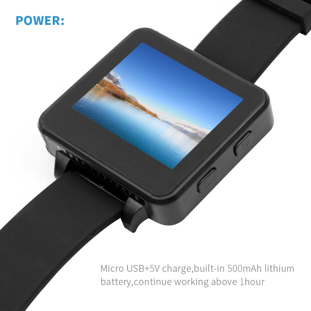 "200RC FPV Wearable Watch 2"" LCD 5.8G 40Ch FPV Monitor Wireless Receiver Watch LCD Display for FPV RC Drone - Photo: 5"