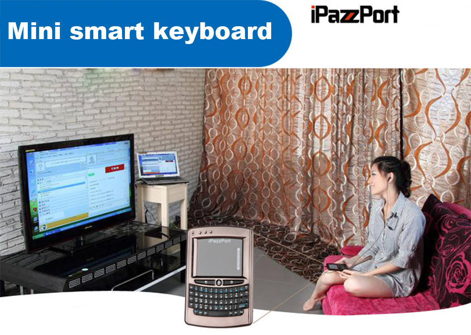 iPazzPort wireless voice keyboard mouse touchpad smart TV box player computer remote