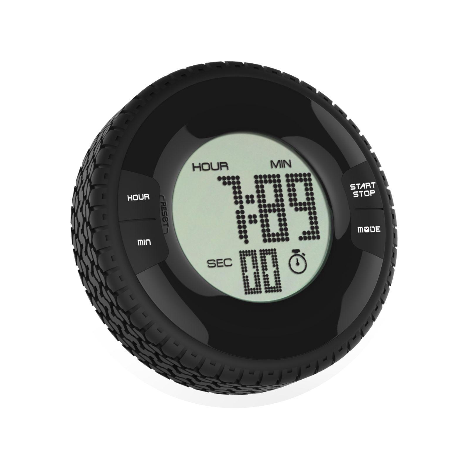 Bathroom Waterproof Fashion Tire Shape Electronic Digital Clock Timer With Fridge Magnet