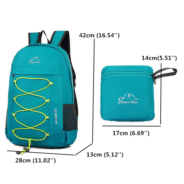 Foldable Light Weight Waterproof Backpack Outdooors Sports Running Hiking Bags