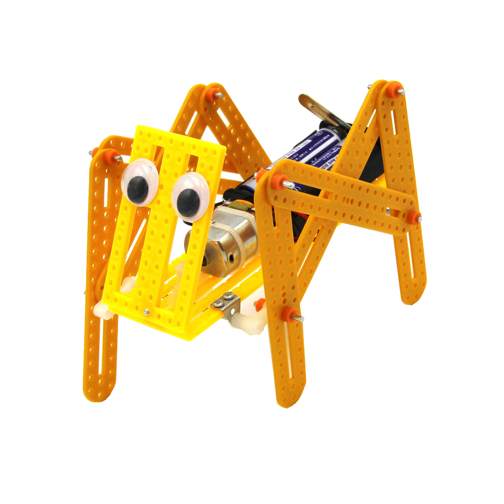 DIY Electric Crawling Robot Dog Model Science Technology Experiment Creative Toys Kits