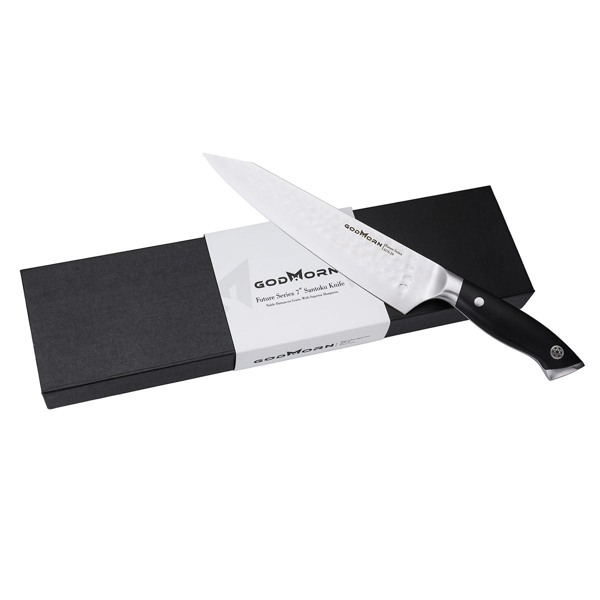 Godmorn Chef Knife 8 Inch AUS-10V Japanese Stainless Steel Professional Kitchen Knife with G10 Handle