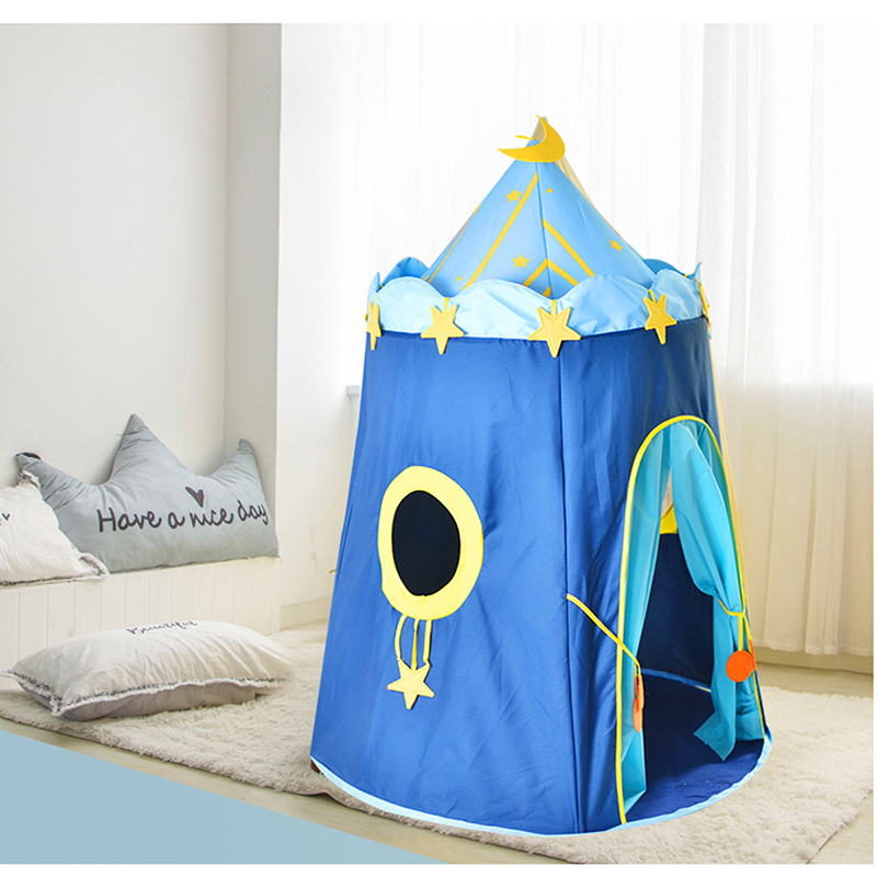 Sport 110 * 150cm Children's Outdoor Entertainment Yur Pet Mat blue House Yurts Moon Tent Game Room