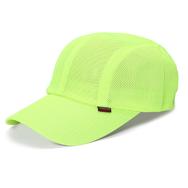 Mens Thin Breathable Quick Dry Hat Outdoor Sunshade Mesh Dad Baseball Caps