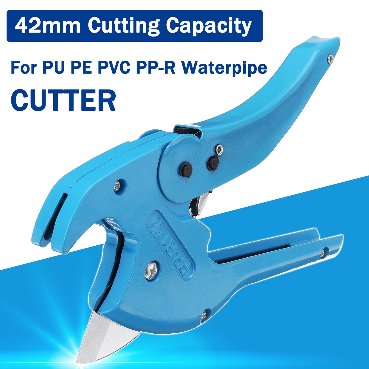 Plastic Pipe Cutter PVC/PE Hose Water Tube Scissors Aluminum Alloy Ratcheting Cutting Hand Tool