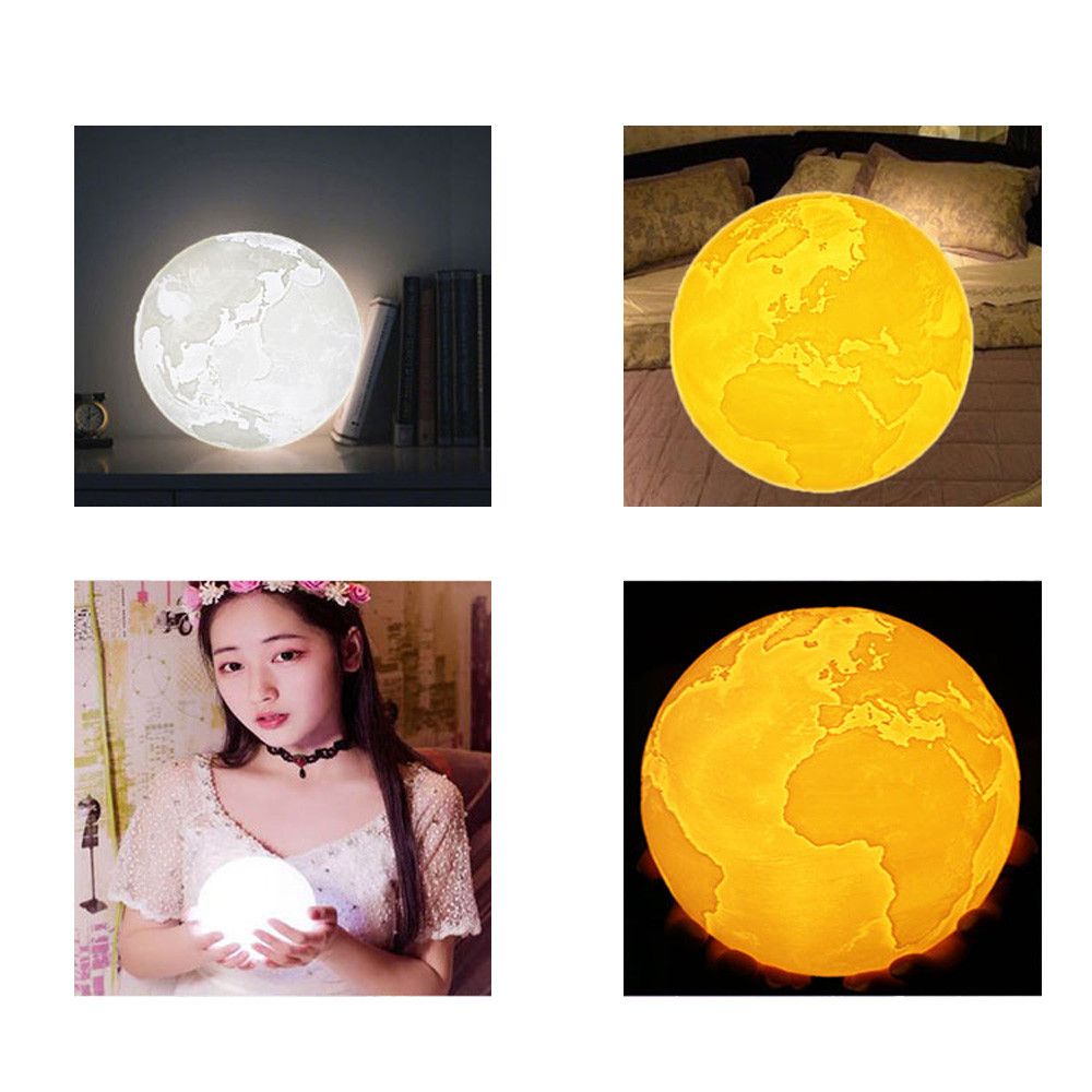 3D USB Flapping Luminous Earth Night Light Table Desk 8CM Earth Lamp Gift Atmostphere Light