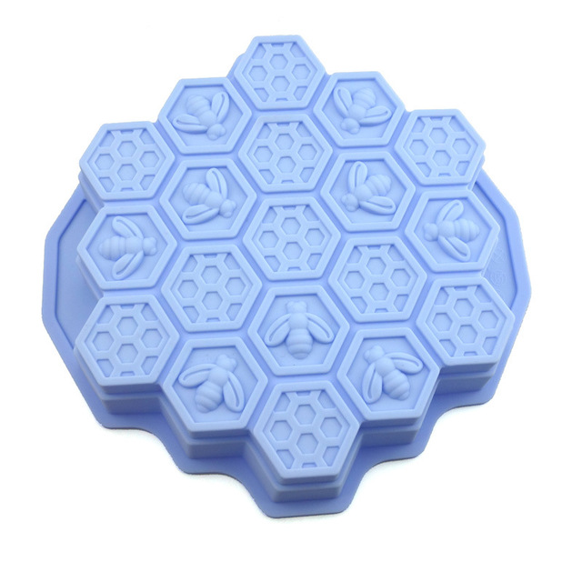 High Temperature Resistant Food Grade Silicone Cake Mold Round Honeycomb Baking Tray Ice Cube Diy Baking Mold