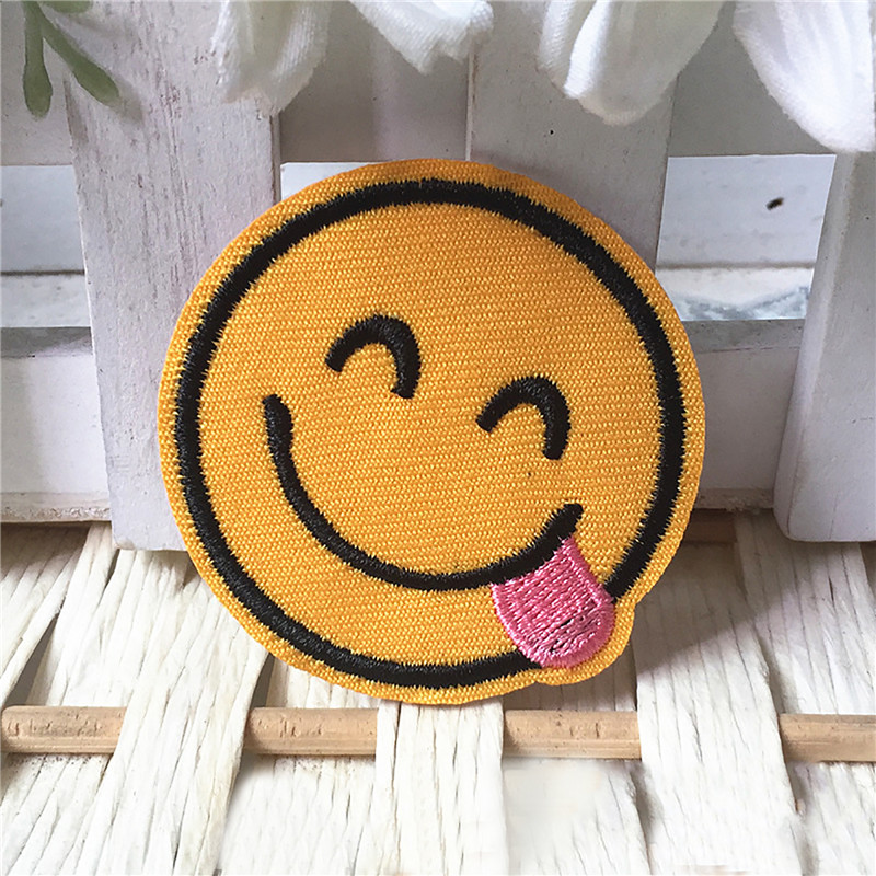 Honana EP-858 20Pcs/Set Clothing Jeans Jacket Kids Patches Stripes Stickers Mixed Emoji Iron on Embroidery Patches