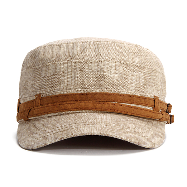 Summer Casual Breathable Cotton Flat Top Hat
