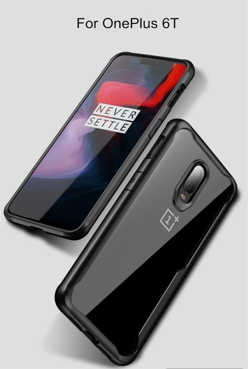 Bakeey™ Shockproof Transparent Hard Acrylic Back Cover Protective Case for OnePlus 6T