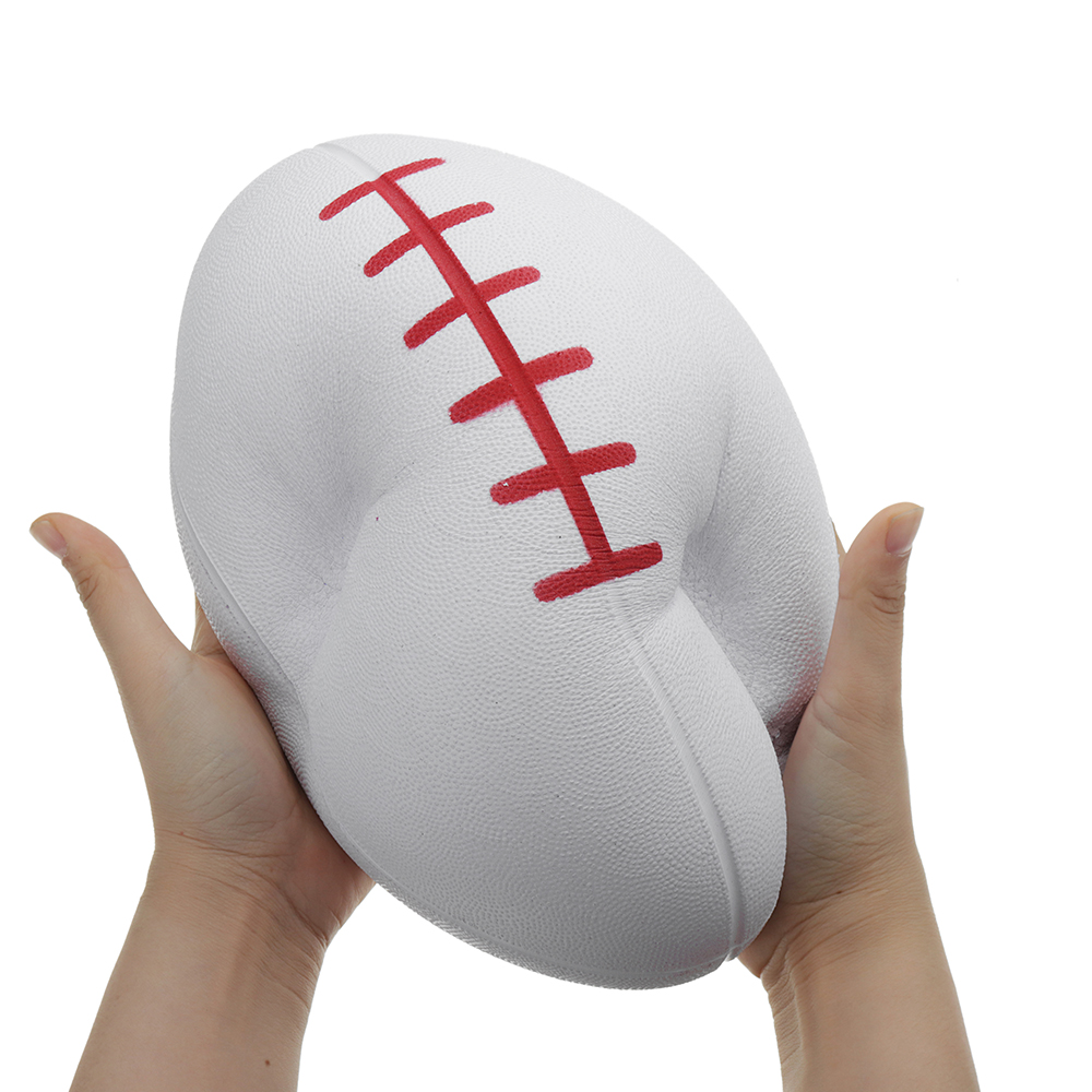 Huge Squishy Rugby Football 27.3*17.5cm Giant Kawaii Cute Soft Solw Rising Toy Cartoon Gift Collection