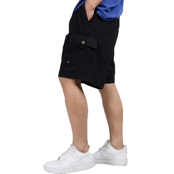 Men's Casual Multi Pocket Cargo Shorts Pure Cotton Relaxed Breathable Shorts Pants