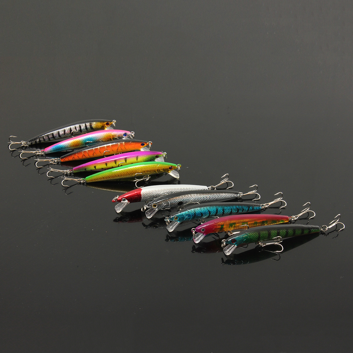 ZANLURE 1pc 10CM 8.5G Minnow Fishing Lure Crankbaits Hook Bass Crankbaits Tackle