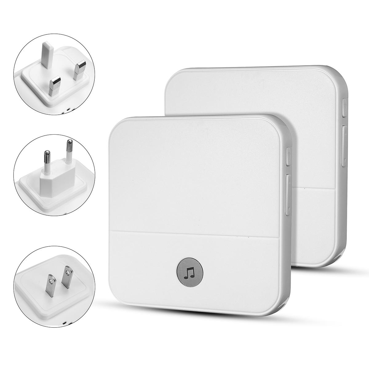 Home House 4 Volume Wireless Doorbell Chime 2 Receiver + 1 Doorbell